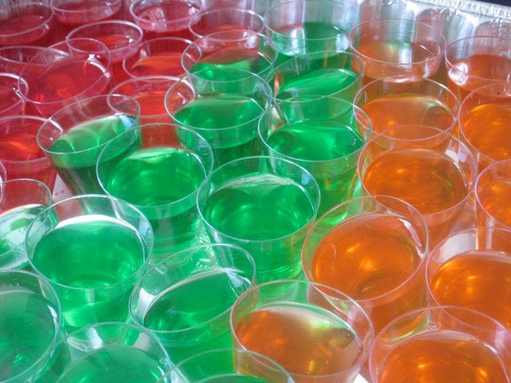 Jello shots: gelatina alcoholizada
