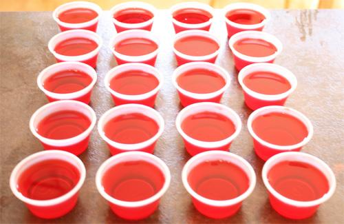 chupitos de plático para jello shots