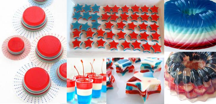 Jello shots patriotiques